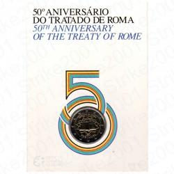 Portogallo - 2€ Comm. 2007 FDC Trattato di Roma in Folder
