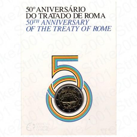 Portogallo - 2€ Comm. 2007 in Folder Trattato di Roma FDC