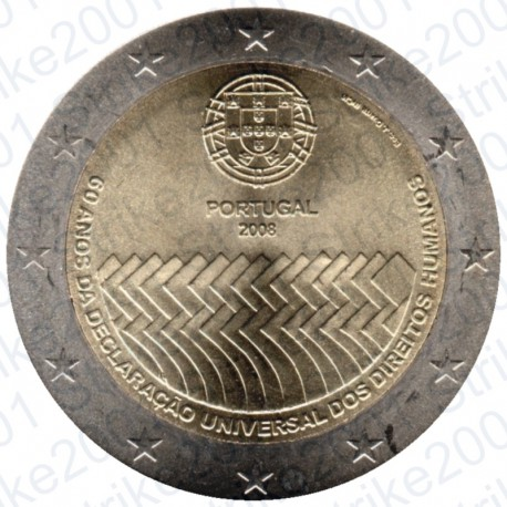 Portogallo - 2€ Comm. 2008 Diritti Dell'Uomo FDC