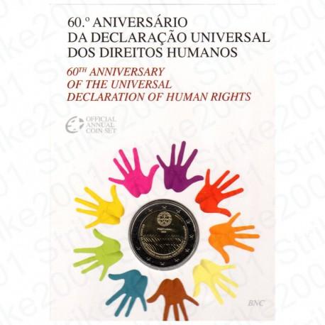 Portogallo - 2€ Comm. 2008 in Folder Diritti dell' Uomo FDC