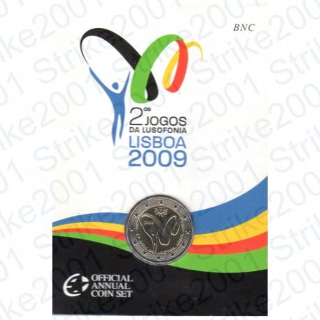 Portogallo - 2€ Comm. 2009 in Folder Giochi Lusofonia FDC