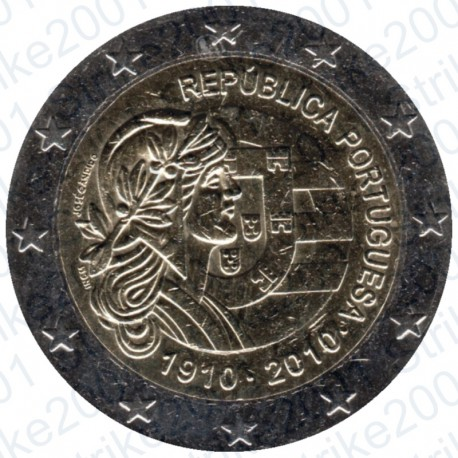 Portogallo - 2€ Comm. 2010 Repubblica Portoghese FDC
