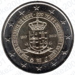 Belgio - 2€ Comm. 2017 FDC Università Liegi