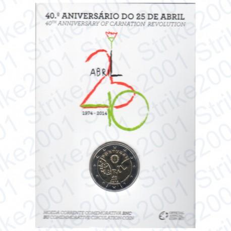 Portogallo - 2€ Comm. 2014 in Folder Rivoluzione FDC