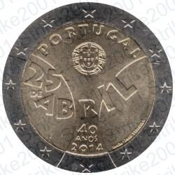 Portogallo - 2€ Comm. 2014 FDC Rivoluzione