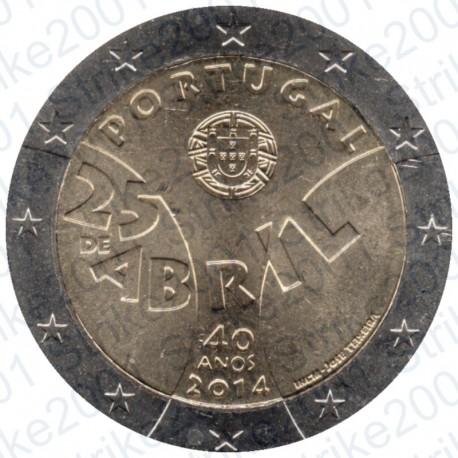 Portogallo - 2€ Comm. 2014 Rivoluzione FDC
