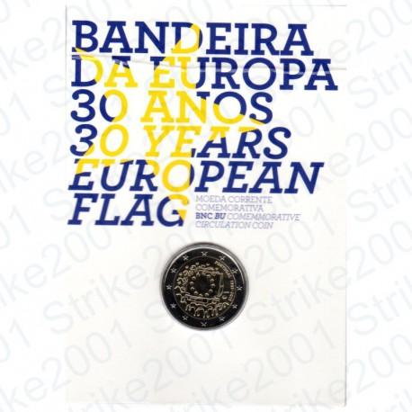 Portogallo - 2€ Comm. 2015 in Folder Bandiera Europea FDC