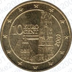 Austria 2002 - 10 Cent. FDC