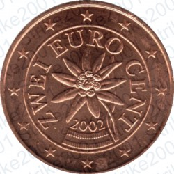 Austria 2002 - 2 Cent. FDC