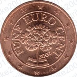Austria 2002 - 5 Cent. FDC
