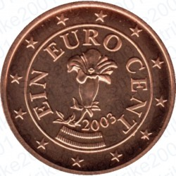 Austria 2003 - 1 Cent. FDC